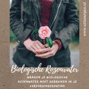 biologische rozenwater